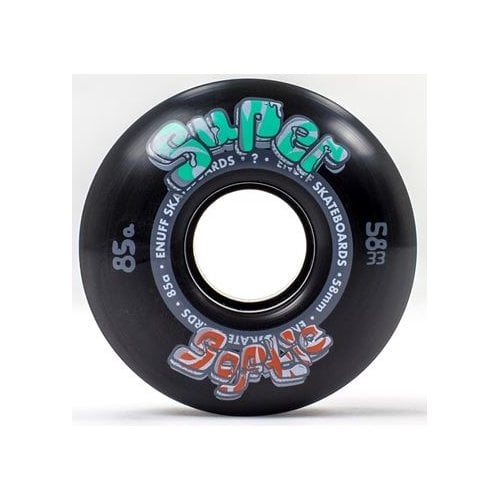 Ruedas Enuff:  Super Softie Black 85A (58 mm)
