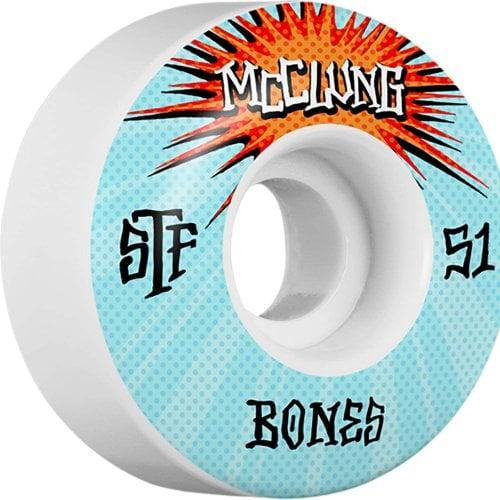 Ruedas Bones: Trent Mcclung Blast STF V1 (51mm)