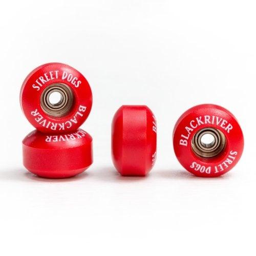 Ruedas Fingerboards Blackriver: Street Dogs Red