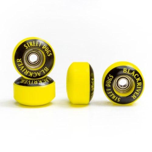 Ruedas Fingerboards Blackriver: Street Dogs Yellow