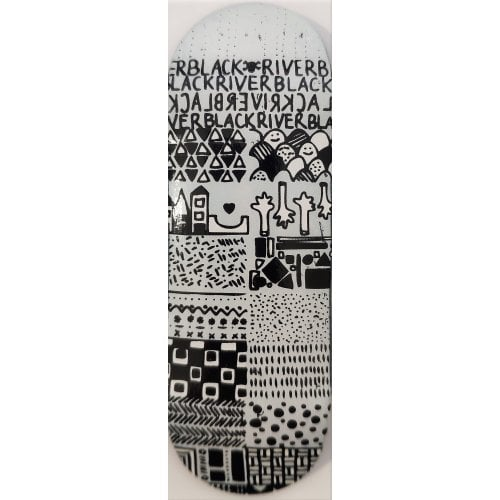Tabla Fingerboard BerlinWood: X-Wide BR En Voyage Mini Pattern 33.3mm