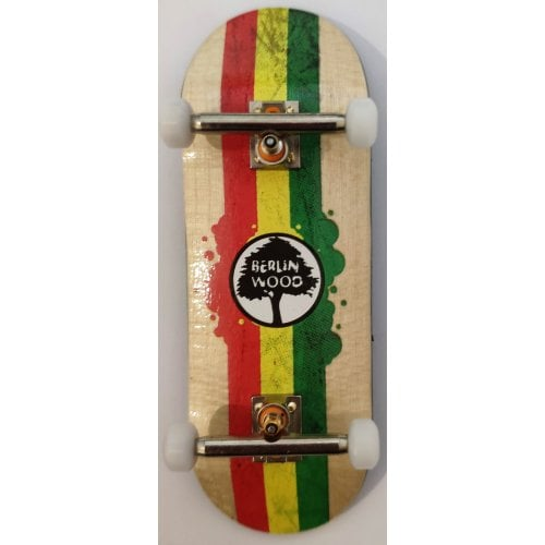 Completo Fingerboard BerlinWood: BW Rasta Rally Set X-Wide 33.3mm