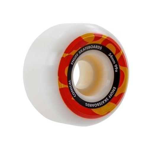 Ruedas Enuff: Conical Wheel Wht/Oran (54mm)