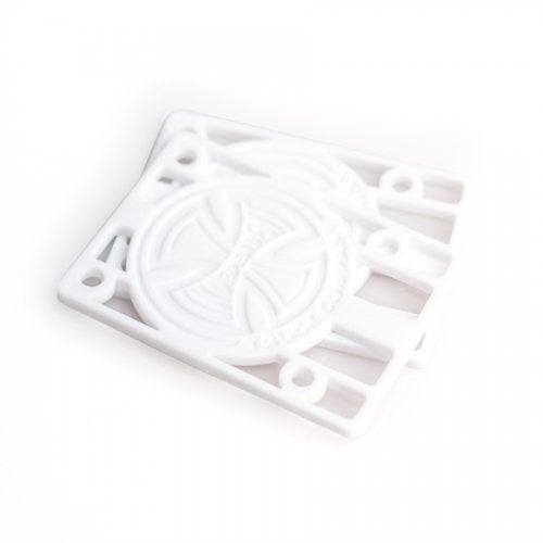"""Alzas Independent: Risers 1/8"""" White"""