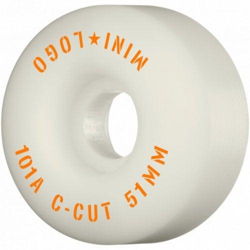 Ruedas Mini-Logo Skateboards: C-Cut White 101A (51 mm)