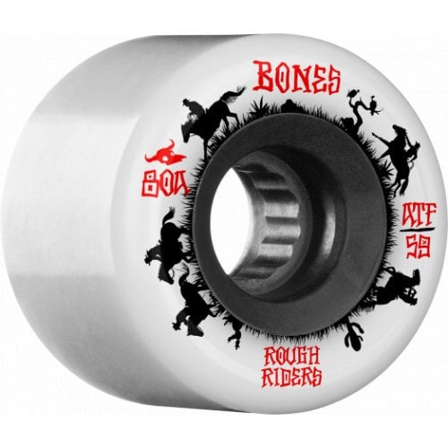 Ruedas Bones: Rough Rider Wranglers white 80A (59mm)