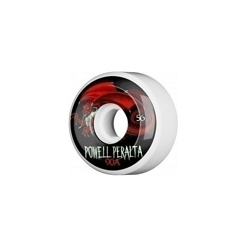 Ruedas Powell Peralta: Oval Dragon 4 90A White (56mm)