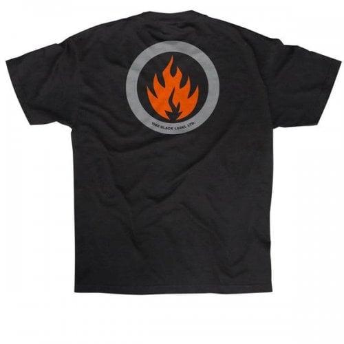 Camiseta Black Label: Circle Flame BK