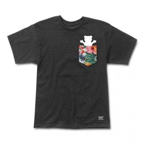 Camiseta Grizzly: Botanical Pocket SS Tee BK
