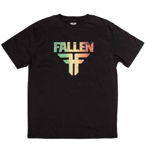 Camiseta Fallen: Insignia Black/Rasta