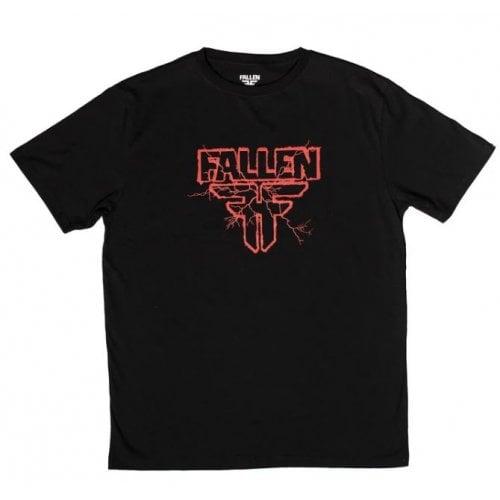 Camiseta Fallen: Electric Black/Red