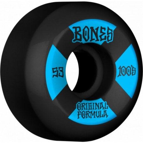 Ruedas Bones: 100's #4 V5 OGF Black 100A (53 mm)