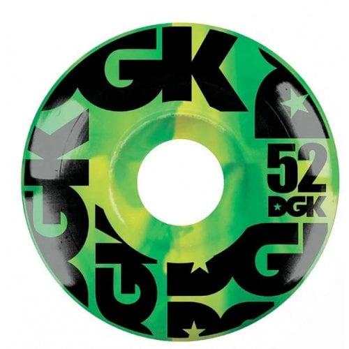 Ruedas DGK: Swirl Formula Green 52mm (101A)