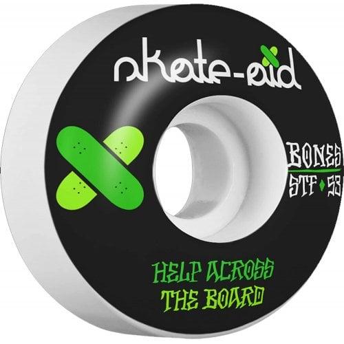 Ruedas Bones: Skate-Aid 2 STF V1 (53 mm)