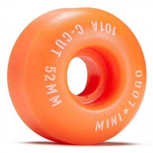 Ruedas Mini-Logo Skateboards: C-Cut Orange 101A (52 mm)