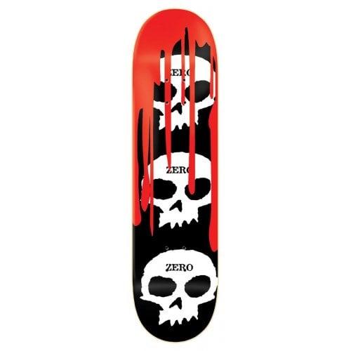 Tabla Zero: 3 Skulls BK/WH/RD 8.0x31.6