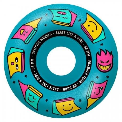 Ruedas Spitfire: F4 99 Sk8 Like a Girl Blue (53mm)