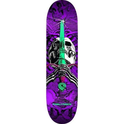 Tabla Powell Peralta: Skull & Sword One Off Birch Purple 7.5