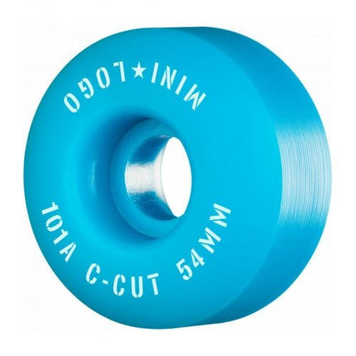 Ruedas Mini-Logo Skateboards: C-Cut Blue 101A (54 mm)