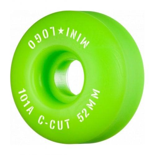 Ruedas Mini-Logo Skateboards: C-Cut Green 101A (52 mm)