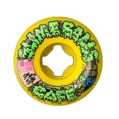 Ruedas Santa Cruz: Double Take Cafe Vomit Mini Yellow 95A (53 mm)
