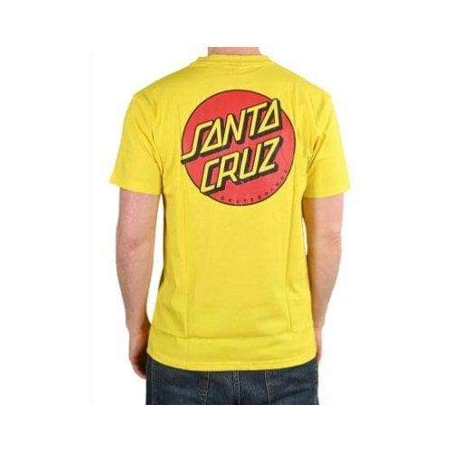 Camiseta Santa Cruz: Classic Dot Chest B Yellow