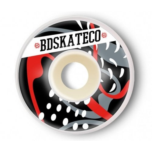 Ruedas BDSkateCO: SPLASH Black red (54 mm)