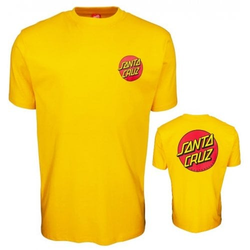 Camiseta Santa Cruz: Classic Dot Chest -Mustard YL