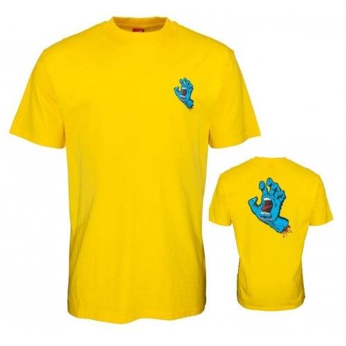 Camiseta Santa Cruz: Screaming Hand Chest -Mustard YL