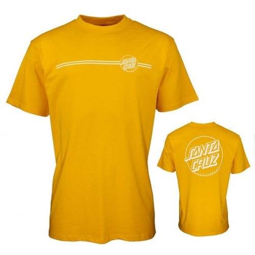 Camiseta Santa Cruz: Opus Dot Stripe -Mustard YL