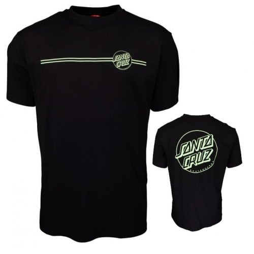 Camiseta Santa Cruz: Opus Dot Stripe Black/Mint BK