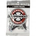Tornillos Independent: Cross Bolts Phillips Silver 1""