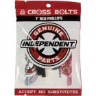 Tornillos Independent: Cross Bolts Phillips Red 1""