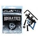 "Tornillos BDSkateCO: Black & Blue 1"" Allen"