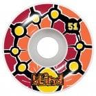Ruedas Blind: Round Space V2 Red/Orange (51 mm) 99A
