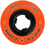 Ruedas Ricta: All Star Orange/Black Chrome (52 mm)