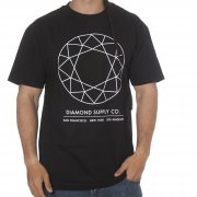 Diamond Supply Co Camiseta Diamond: Off Top Tee Black BK