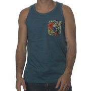 Camiseta sin mangas Wrung: Pocketank Heather BL