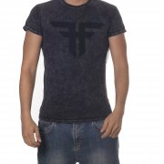 Camiseta Fallen: Trademark MC Acid Wash BK