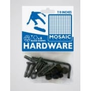 "Tornillos Mosaic: Mounting Bolts Black Pack 7/8"" Allen"