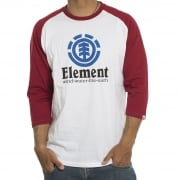 Camisetas Manga Larga (3/4) Element: Vertical Raglan WH/RD