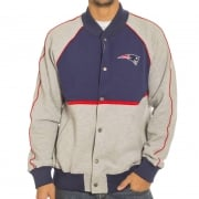 Chaqueta Majestic: Letterman Jacket Patriots NV/GR
