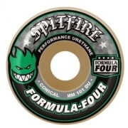 Ruedas Spitfire: F4 101 Conical Green Print (52 mm)