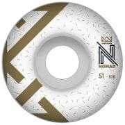 Ruedas Nomad: Logo White (51 mm)
