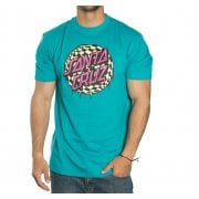 Camiseta Santa Cruz: Check Waste Dot Lake Blue BL