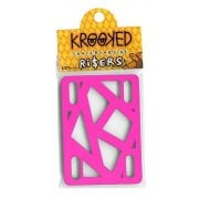 Alzas Krooked Skateboardings: Riser Pads Hot Pink 1/8""
