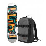 Skate Completo Blind + Mochila: Backpack with First Push OG Matte Orange/Green 7.75