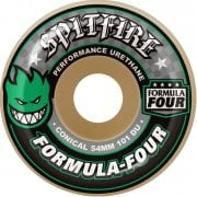 Ruedas Spitfire: F4 101A Conical Green Print (52 mm)