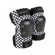 Coderas Pro-Tec: Junior Elbow Pad Checker BK/WH