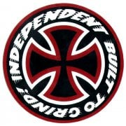 Pegatinas Independent: Sticker Built to Grind 15 BK/RD/WH